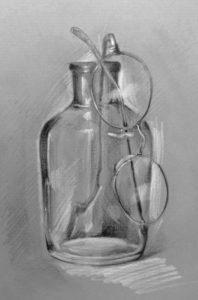 硝子瓶と眼鏡