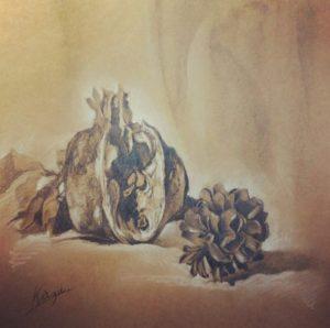 柘榴と松ボックリ